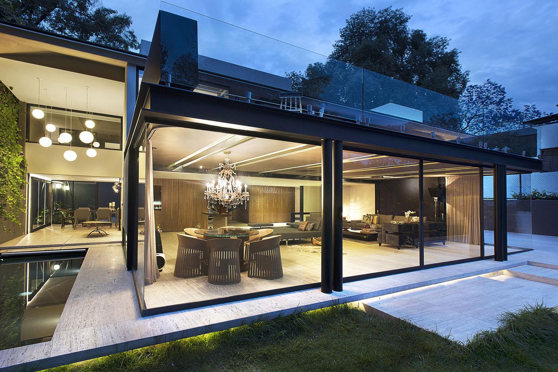 Case moderne con struttura in acciaio a secco case for Modern metal homes